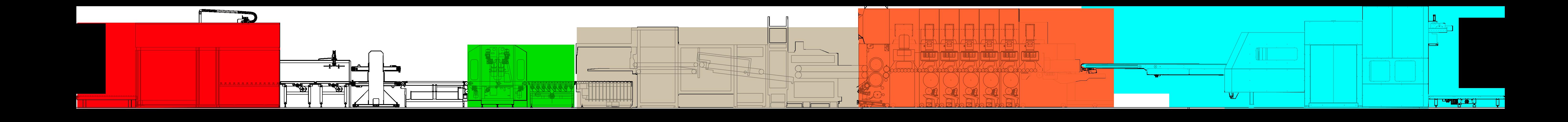Processo di fustellatore rotativo e uscita mazzetta